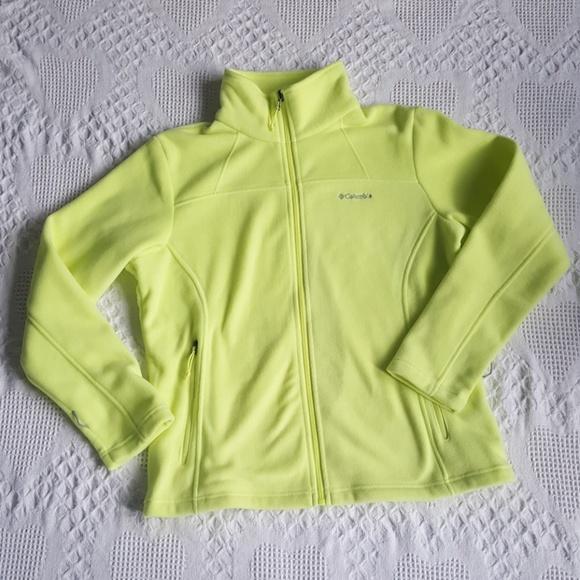 Columbia Jackets & Blazers - Yellow Columbia Fleece Zip Up Size XL